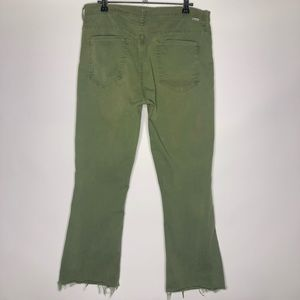Mother Insider Crop Green Pants Size: 31